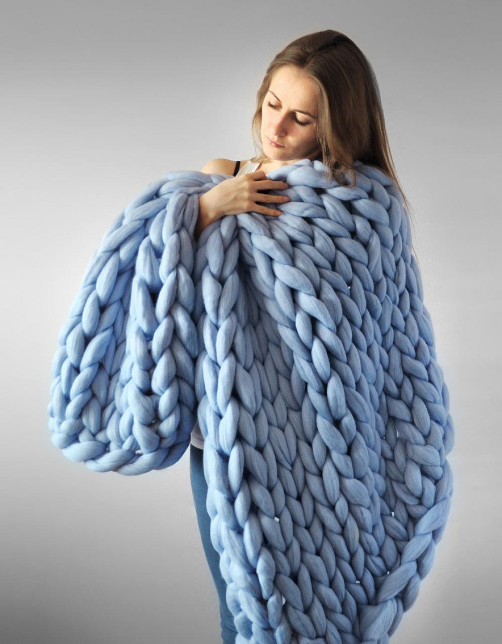 10 Arm Knitting Blanket Patterns - The Funky Stitch