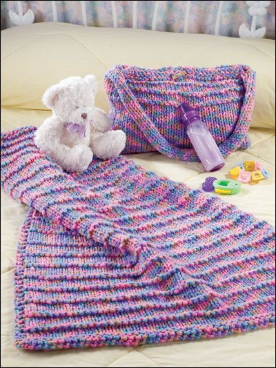 6 Loom Knitting Baby Blanket Patterns - The Funky Stitch