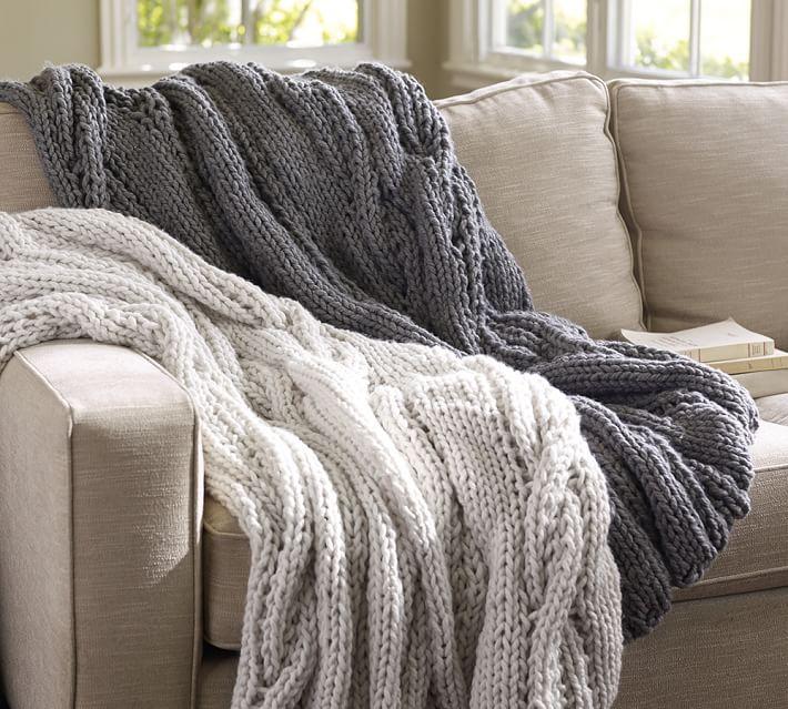 16 Chunky Knit Blanket Patterns - The Funky Stitch