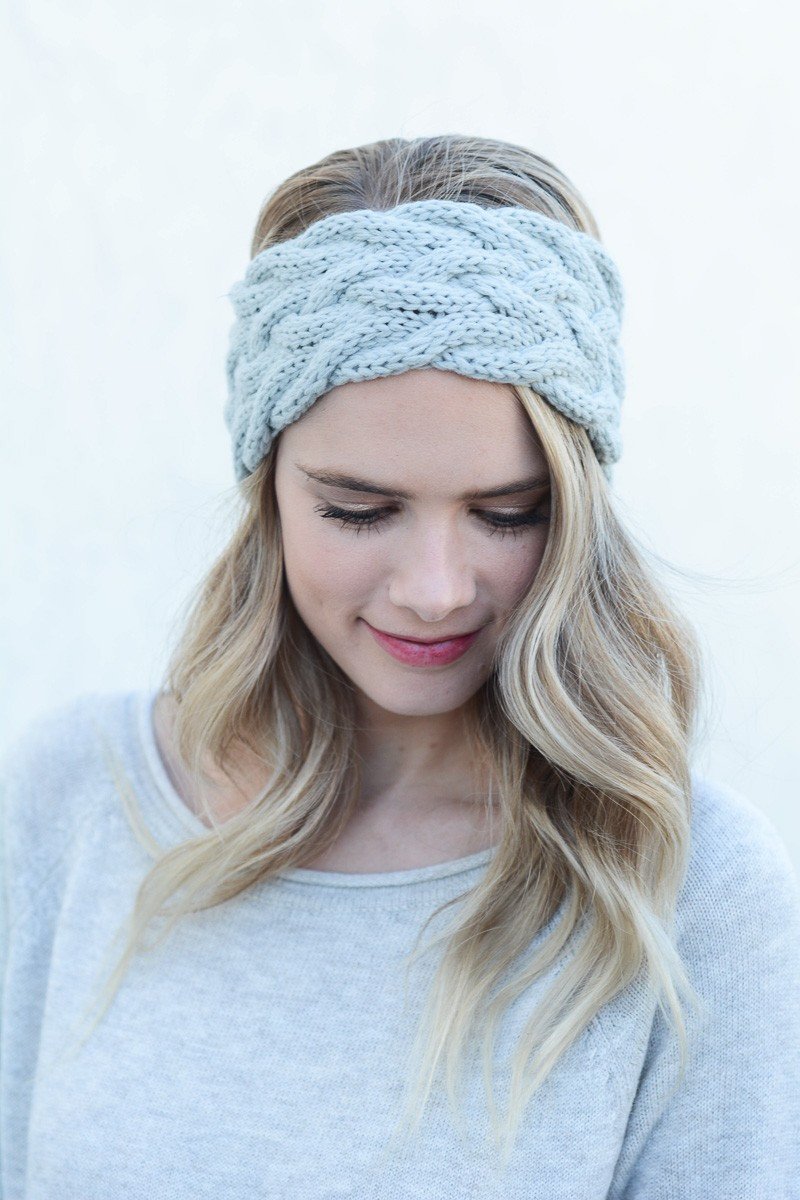 10 Braided Knit Headband Patterns - The Funky Stitch