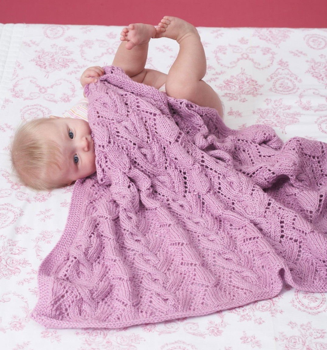 15 Cable Knit Baby Blanket Patterns - The Funky Stitch