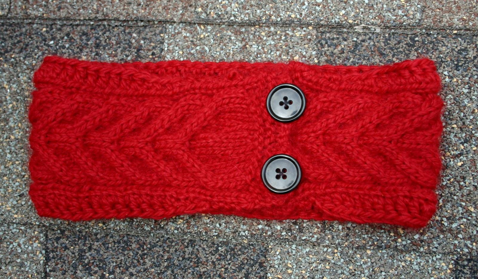 10 Knit Headband Patterns With Button The Funky Stitch