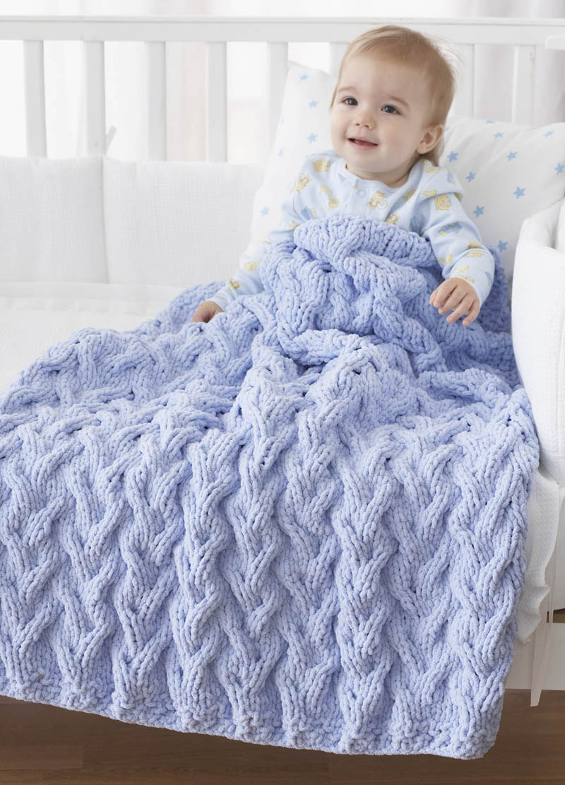 15 Cable Knit Baby Blanket Patterns The Funky Stitch