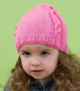 pink cable knit hat pattern