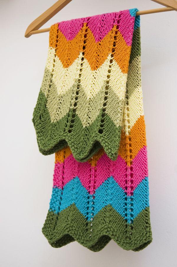 8 Chevron Baby Blanket Knitting Patterns - The Funky Stitch