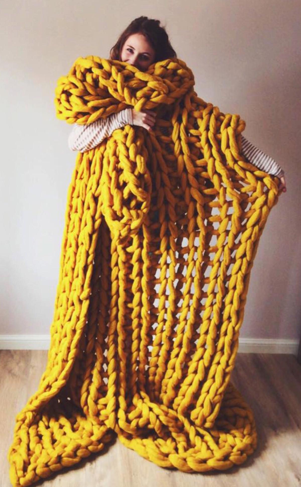 16 Chunky Knit Blanket Patterns The Funky Stitch