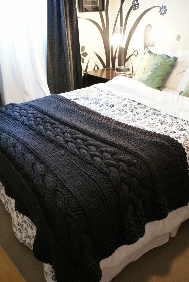 16 Chunky Knit Blanket Patterns The Funky Stitch
