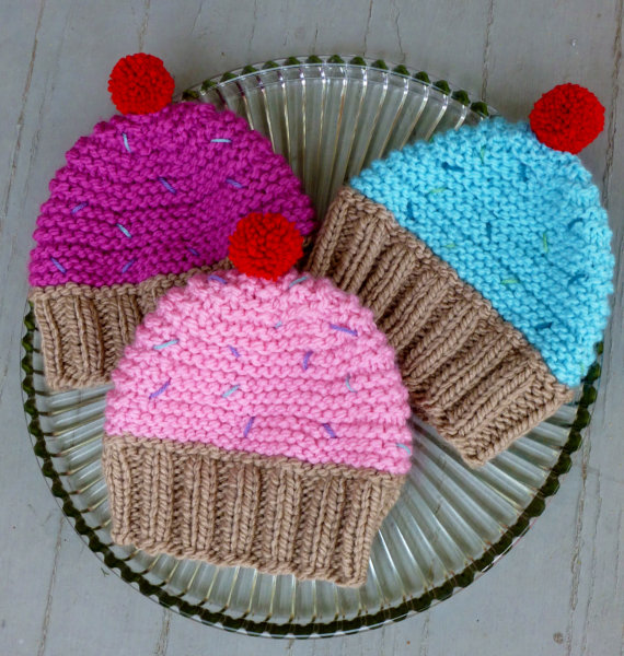 6 Knitted Cupcake Hat Patterns The Funky Stitch