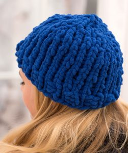 blue cable knit hat pattern