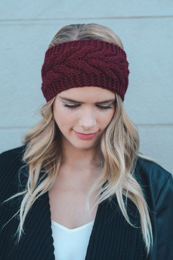 10 Knit Headband Ear Warmer Patterns - The Funky Stitch
