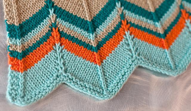 8 Chevron Baby Blanket Knitting Patterns The Funky Stitch