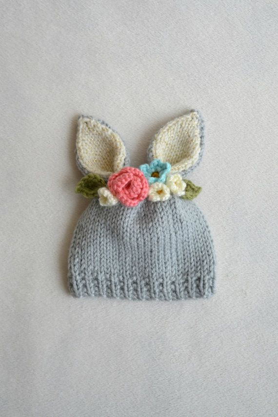 9 Knit Hat with Flower Patterns - The Funky Stitch
