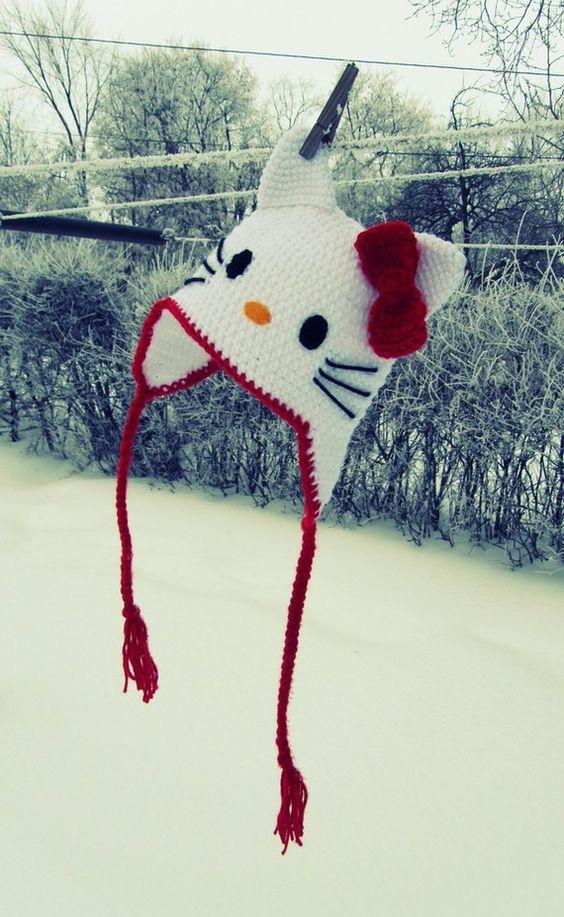 5 Hello Kitty Knit Hat Patterns - The Funky Stitch