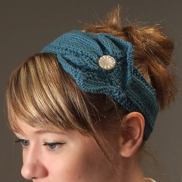 10 Knit Headband Patterns With Button The Funky Stitch
