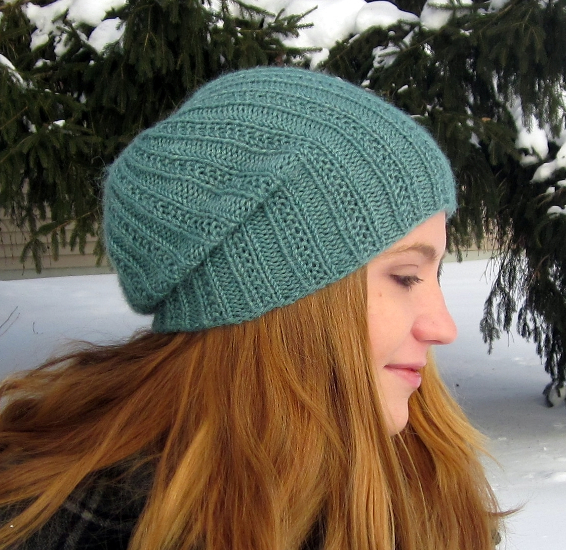 6 Slouchy Beanie Knit Patterns - The Funky Stitch