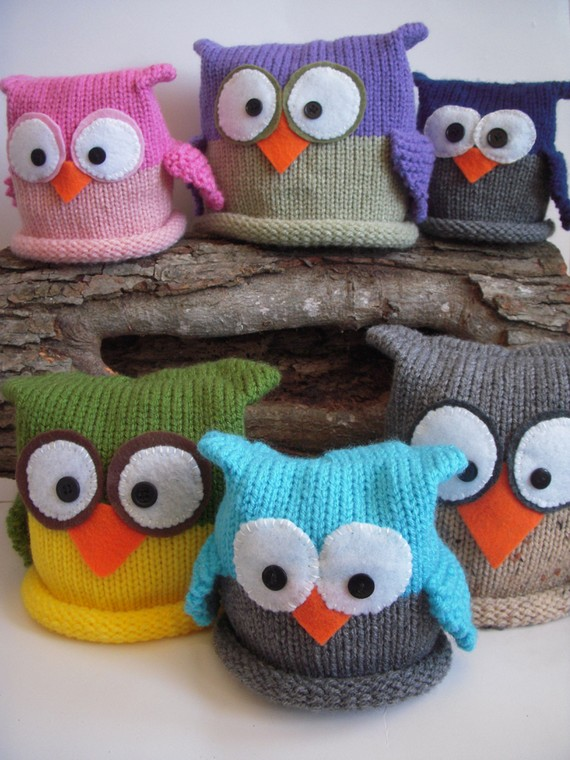6 Knit Owl Hat Patterns The Funky Stitch