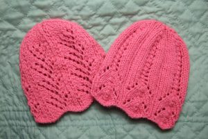 pink knit hats