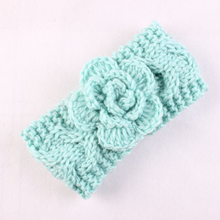 8 Knitted Headband with Flower Patterns - The Funky Stitch