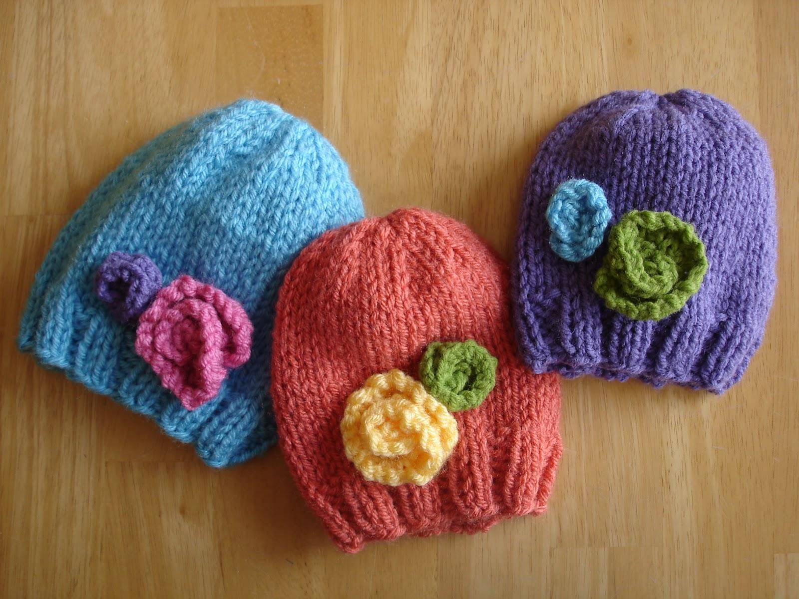 loom knit baby hat pattern