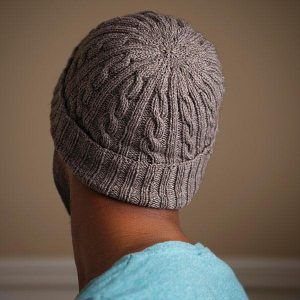 gray cable knit hat pattern