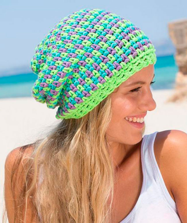 a6bfca69cea 34 Slouchy Beanie Crochet Patterns for Beginners - The Funky Stitch