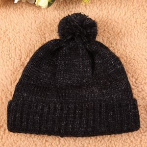 black cable knit hat pattern