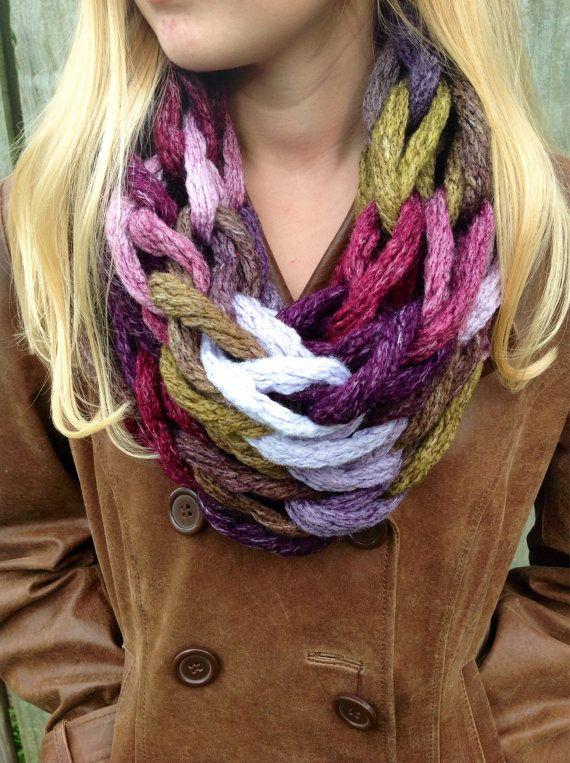 18 Arm Knitting Scarf Patterns The Funky Stitch
