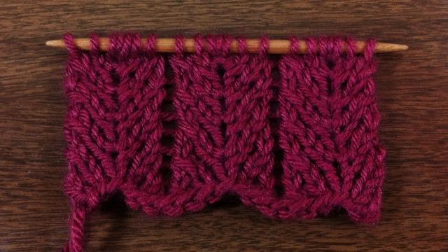 9 Chevron Scarf Knitting Pattern The Funky Stitch