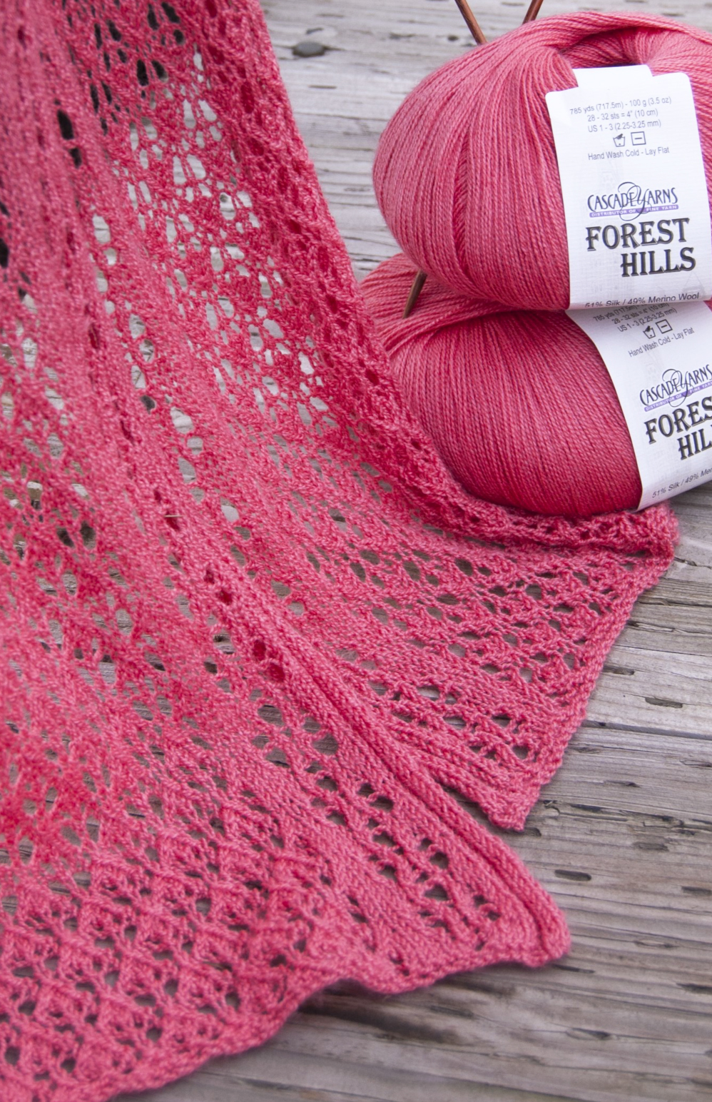 10 Lace Scarf Knitting Pattern - The Funky Stitch