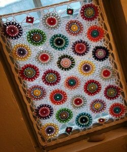Crochet Valance Patterns with colored circles