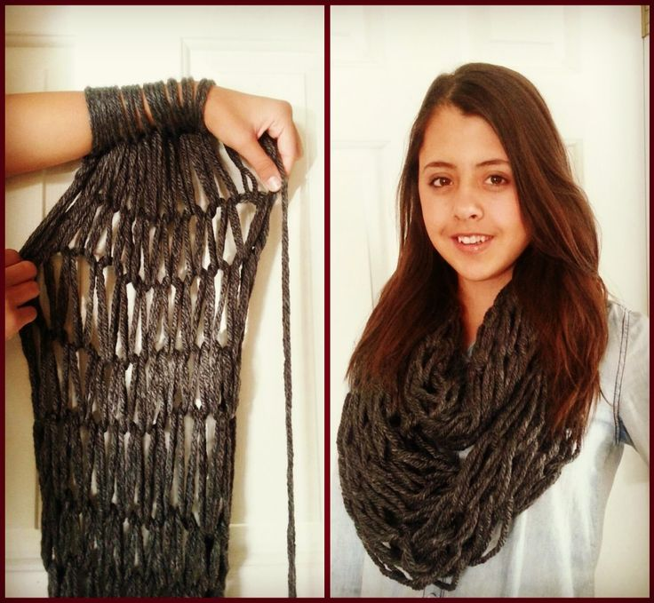 18 Arm Knitting Scarf Patterns - The Funky Stitch