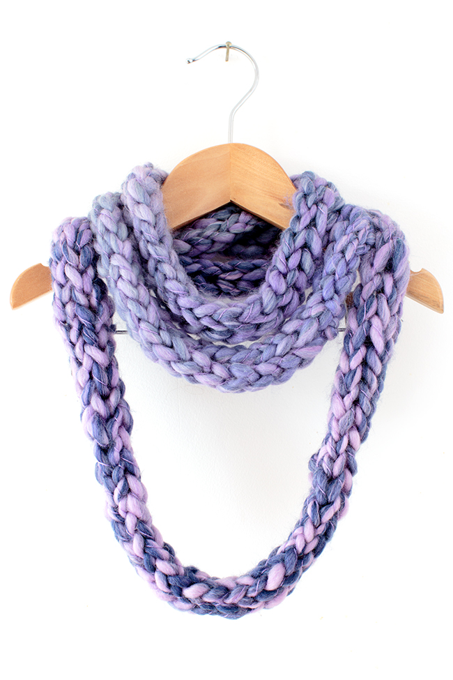 10 Finger Knitting Scarf Patterns The Funky Stitch