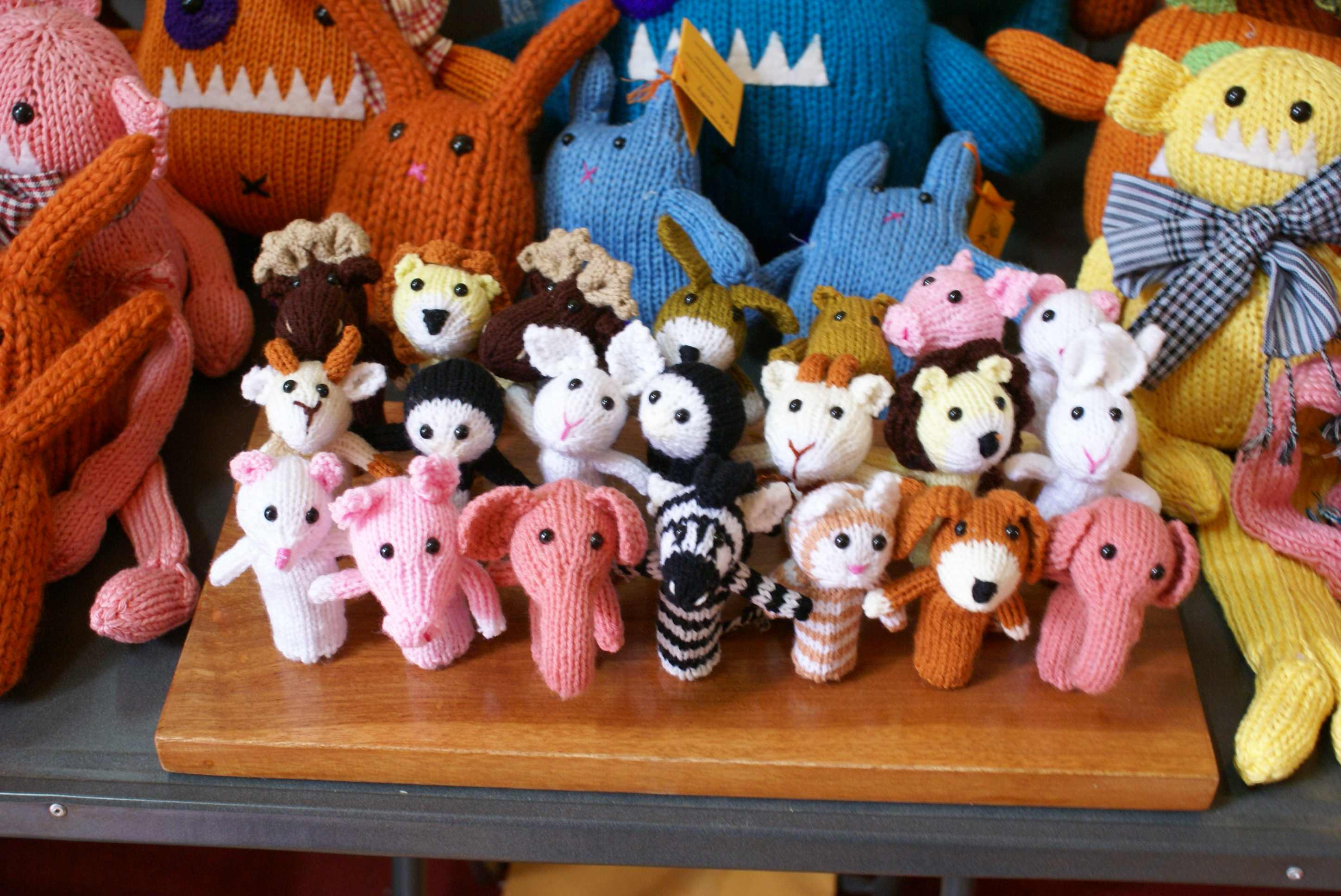 Lujoso Knitted Finger Puppets Patterns Free Composición - Manta de ...