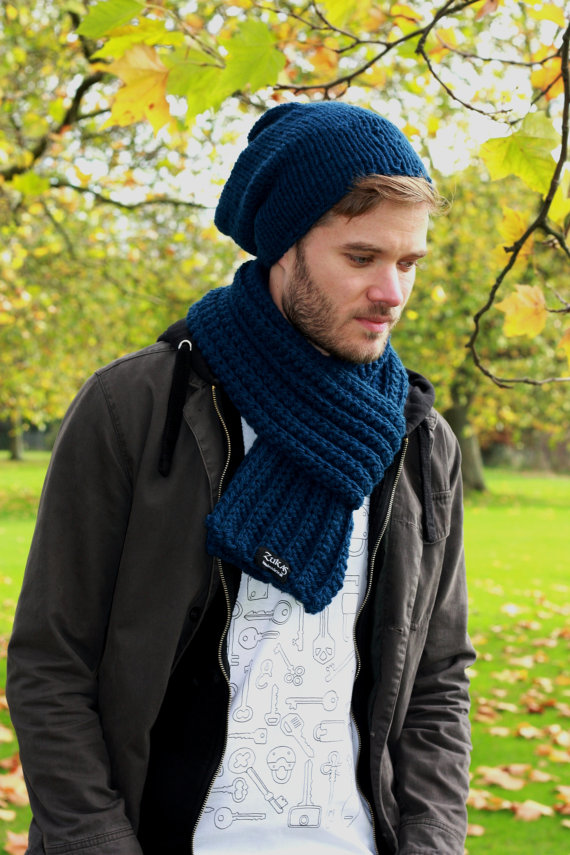 4 Mens Knit Scarf Patterns The Funky Stitch
