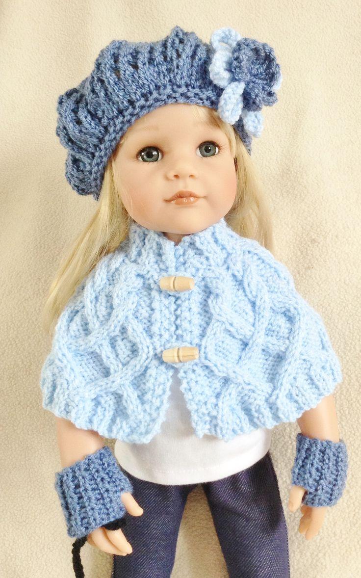 Encantador Free Knitting Patterns For 18 Dolls Bosquejo - Manta de ...
