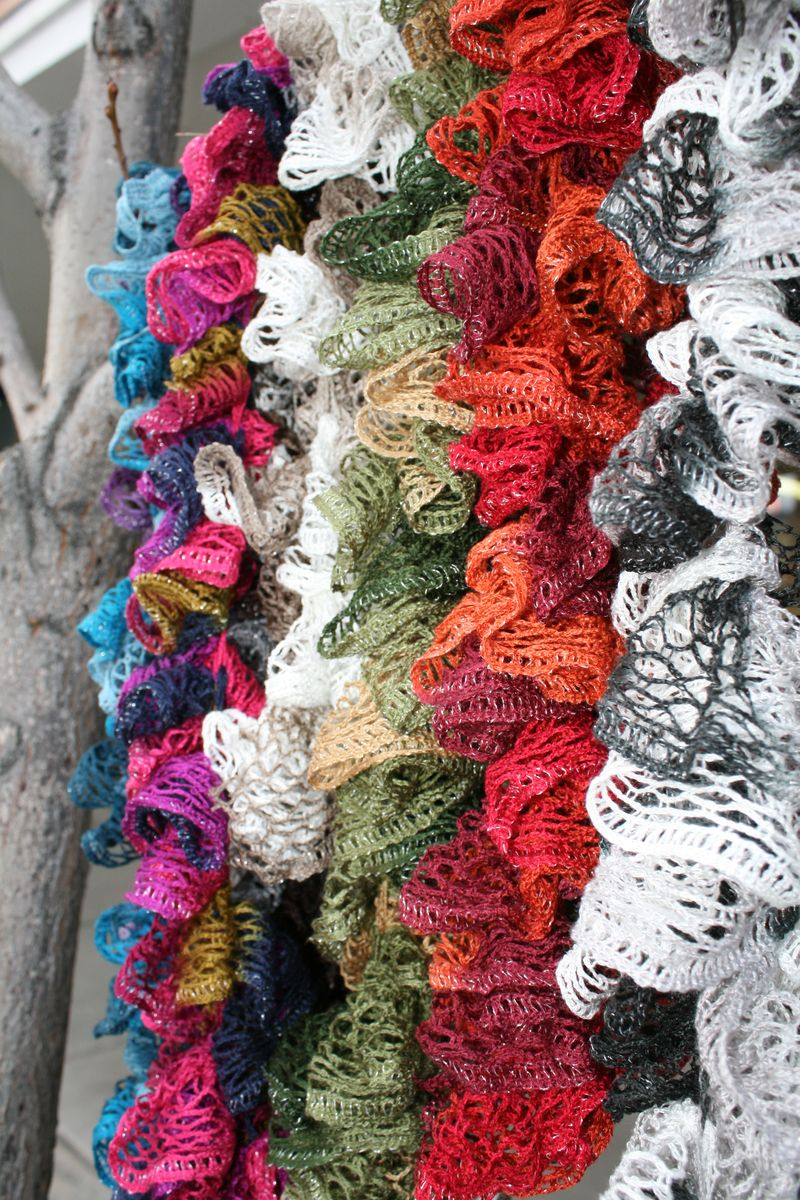 14 Ruffle Scarf Knitting Pattern The Funky Stitch