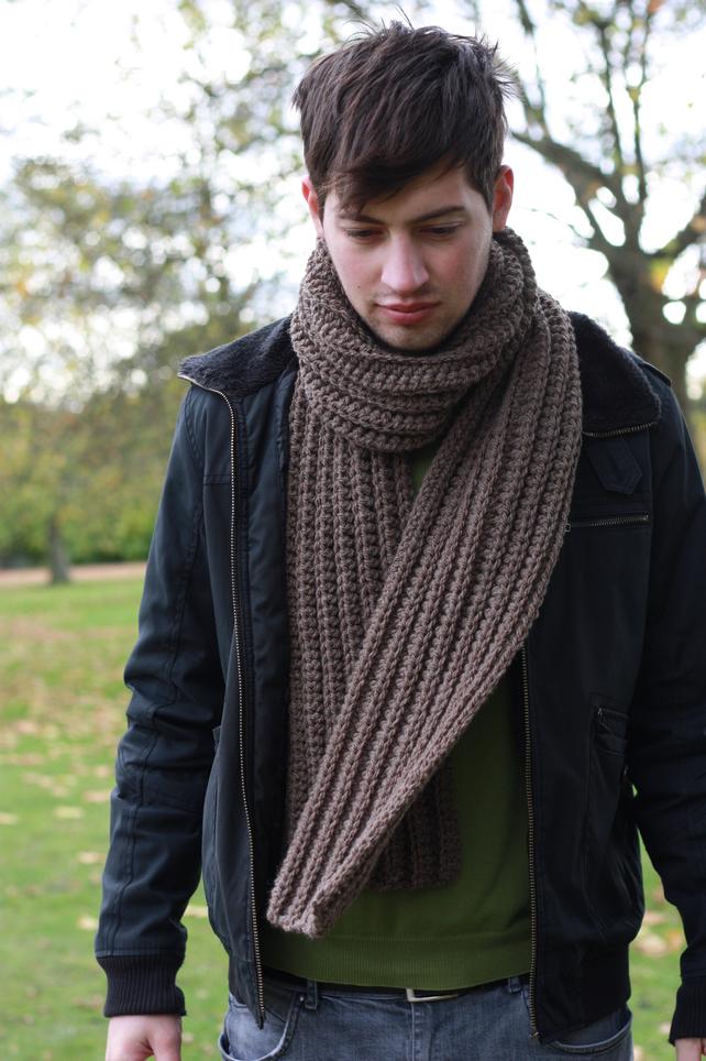 4 Mens Knit Scarf Patterns The Funky Stitch