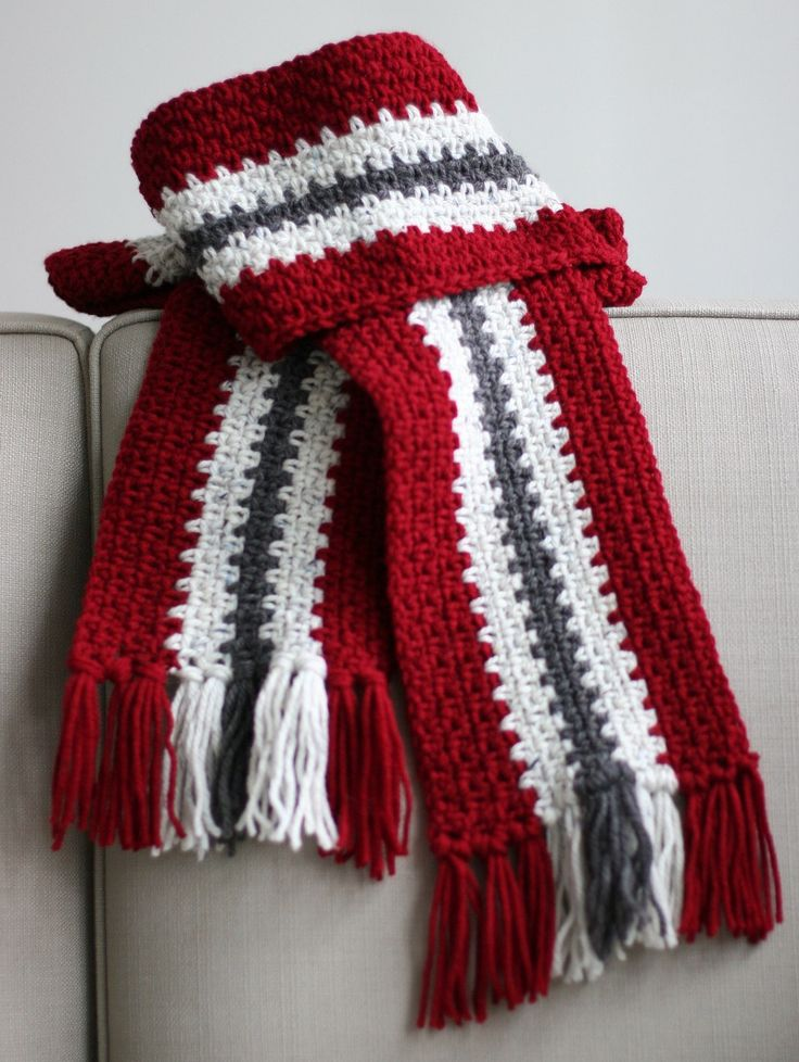 10 Striped Scarf Knitting Pattern The Funky Stitch
