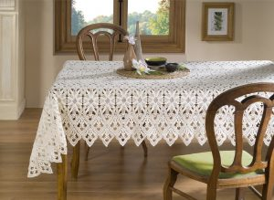 rectangular white lace crochet tablecloth pattern