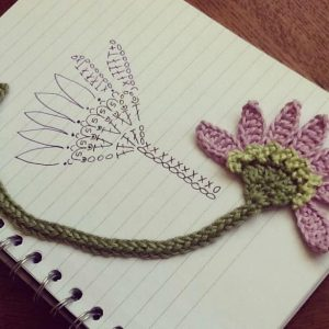 Floral Bookmark Crochet Pattern