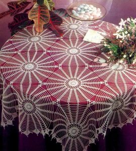 sun lace crochet tablecloth pattern