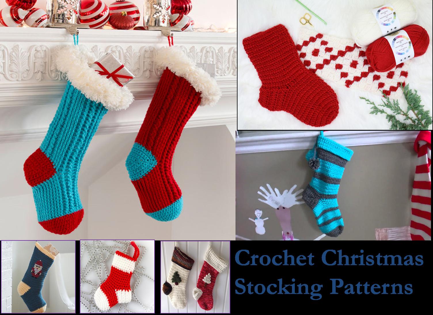 Crochet Christmas Stocking Pattern.40 Crochet Christmas Stocking Patterns The Funky Stitch