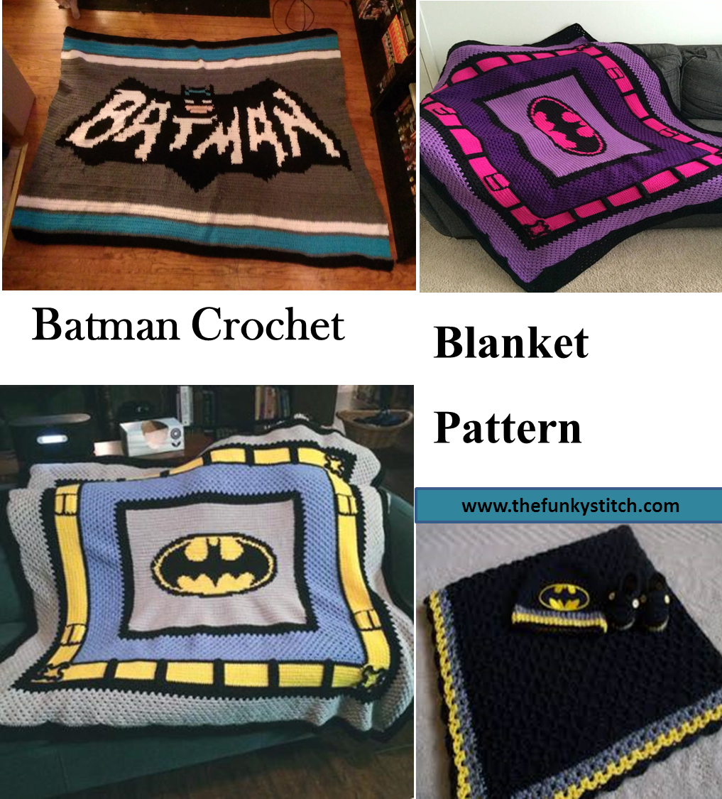 6 Adorable Batman Crochet Blanket Pattern The Funky Stitch