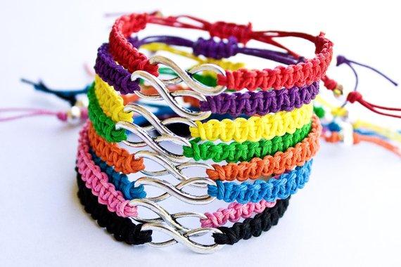 Hemp Bracelet with Metal Alloy Beads