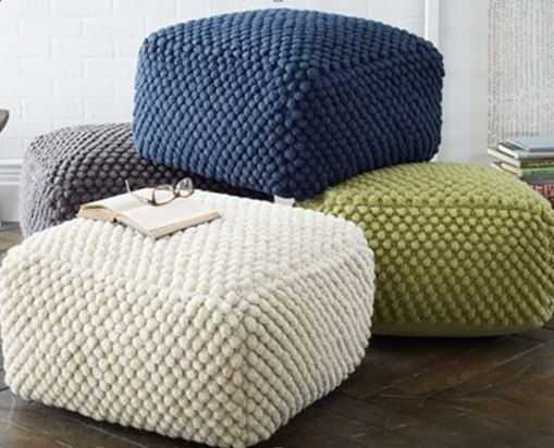 Knitted-Pouf-Footstool