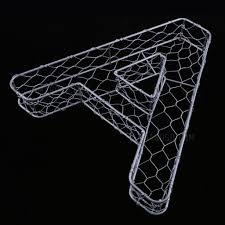 Letters with Wire Mesh
