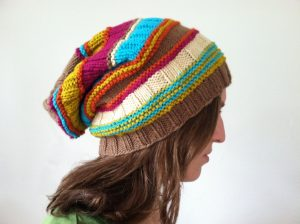 multicolor cable knit hat pattern