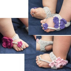 Get 64 crochet barefoot sandal patterns