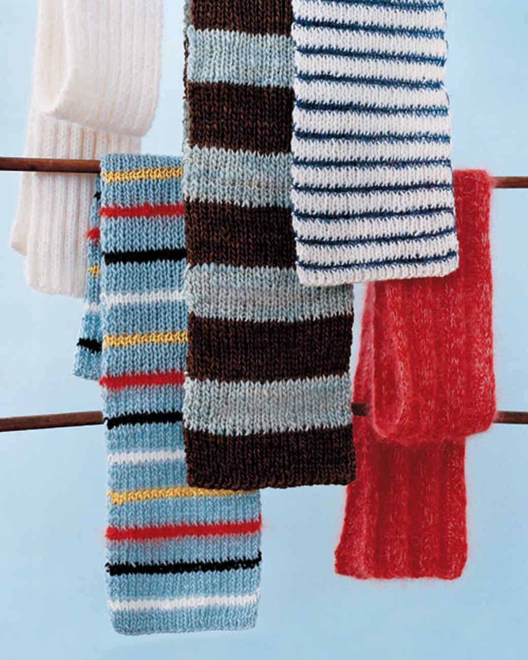 10 Striped Scarf Knitting Pattern - The Funky Stitch