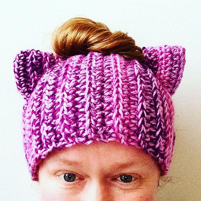 Purrfect Cat Ears Hat | AllFreeCrochet.com | 640x640